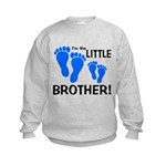 Little Brother Baby Footprint Kids Sweatshirt