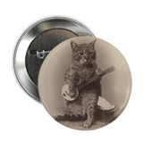 "Cat Playing a Banjo 2.25"" Button"