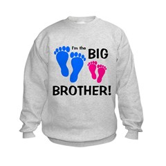 Big Brother Baby Footprints Kids Sweatshirt