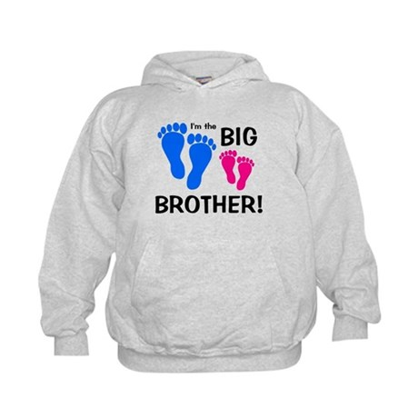 Big Brother Baby Footprints Kids Hoodie