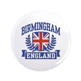 "Birmingham England 3.5"" Button"