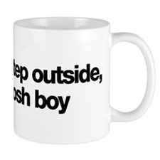 Step outside, posh boy: Mug
