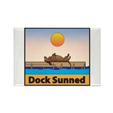 Dock Sunned Dachsund Rectangle Magnet