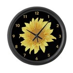 Elegant Sunflower Large Wall Clock