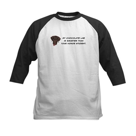 Smart Chocolate Labrador Kids Baseball Jersey