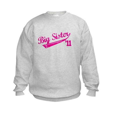 big sister t-shirts '11 Kids Sweatshirt