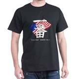 USA no.1 Black T-Shirt