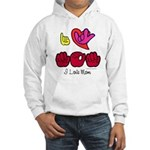 I-L-Y Mom Hooded Sweatshirt