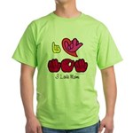 I-L-Y Mom Green T-Shirt