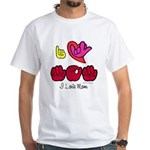 I-L-Y Mom White T-Shirt