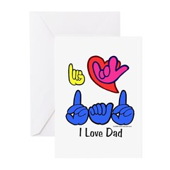 I-L-Y Dad Greeting Cards (Pk of 20)