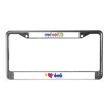 I-L-Y Dad License Plate Frame