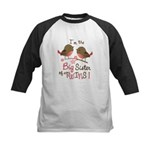 Big Sister of twins - Mod Bird Kids Baseball Jerse