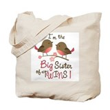 Big Sister of twins - Mod Bird Tote Bag