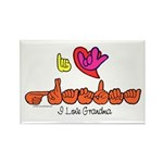 I-L-Y Grandma Rectangle Magnet (100 pack)