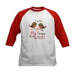 Big Cousin of Twins - Mod Bird Kids Baseball Jerse