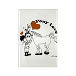 Pony Love Rectangle Magnet (10 pack)