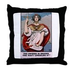 Gee, I Wish I Were a Man Throw Pillow