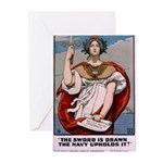 Gee, I Wish I Were a Man Greeting Cards (Pk of 10)