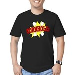 Cornhole Boom Men's Fitted T-Shirt (dark)