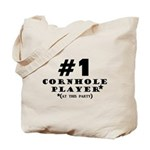 #1 Cornhole Player Tote Bag