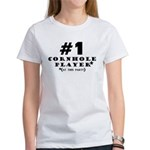 #1 Cornhole Player Women's T-Shirt