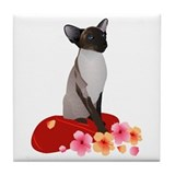 Siamese Princess Tile Coaster