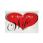 I Love My Wife Rectangle Magnet (10 pack)