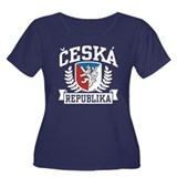 Ceska Republika Women's Plus Size Scoop Neck Dark