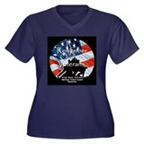 MEMORIAL DAY Women's Plus Size V-Neck Dark T-Shirt