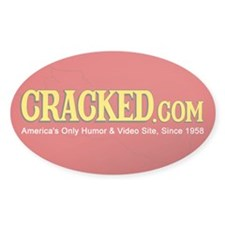 CRACKED.com Sticker [Oval]