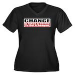 Change Women's Plus Size V-Neck Dark T-Shirt