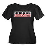 Change Women's Plus Size Scoop Neck Dark T-Shirt