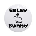 Belay Bunny Ornament (Round)