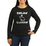 Belay Bunny Women's Long Sleeve Dark T-Shirt