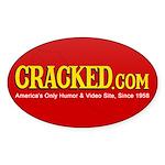 CRACKED.com Sticker [Oval]
