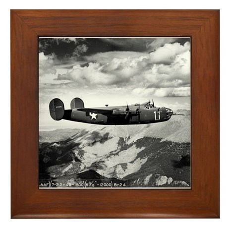 B-24 Flying High Framed Tile