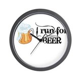 I run for Beer Wall Clock