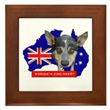 Cute Heeler Framed Tile