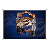 Hawk Face Dream Catcher Banner