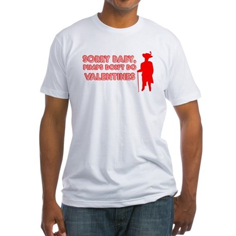 Valentine's Pimp Fitted T-Shirt