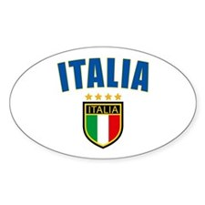 italian pride Oval Decal