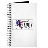 AK USA License Plate Journal