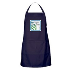 CRAZY CAT LADY Chefs Apron (navy blue)