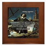 Nicolaus Copernicus Cosmos Framed Tile