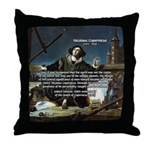 Nicolaus Copernicus Cosmos Throw Pillow