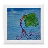 Mermaid with Green Hair Tile Coaster