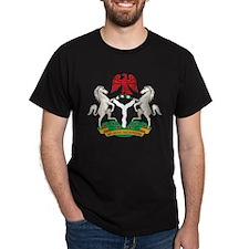 Nigeria Coat Of Arms Black T-Shirt