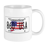CT USA License Plate  Tasse