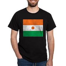 Niger Flag Black T-Shirt
